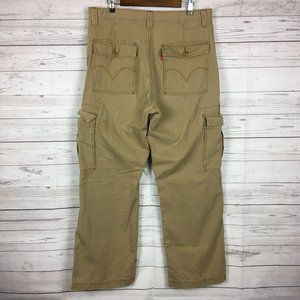 Levis Mens Cargo Pants 36×32 Loose Straight Brown